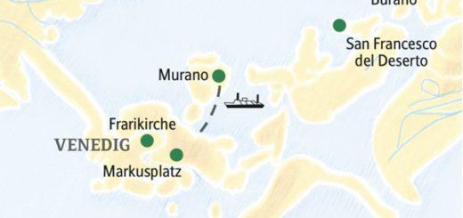 Studienreise mit sechs Übernachtungen mitten in Venedig