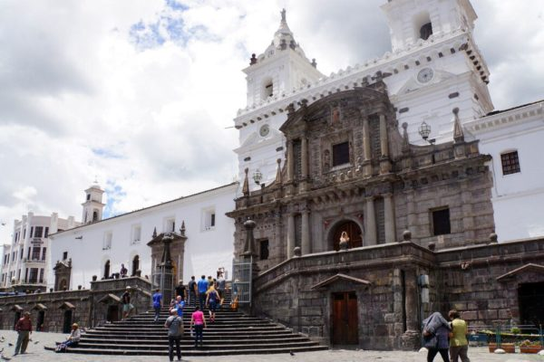 Die Kirche San Francisco in Quito