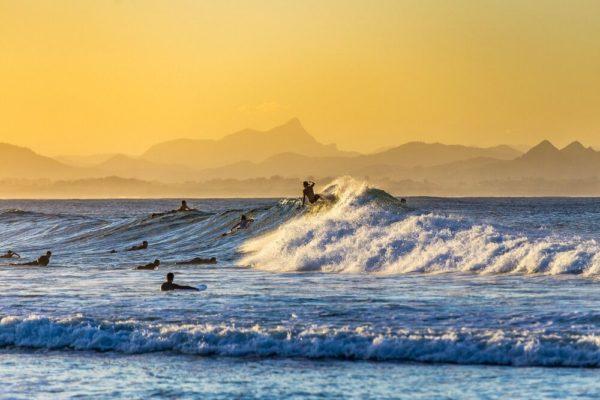 Surfing in Australien