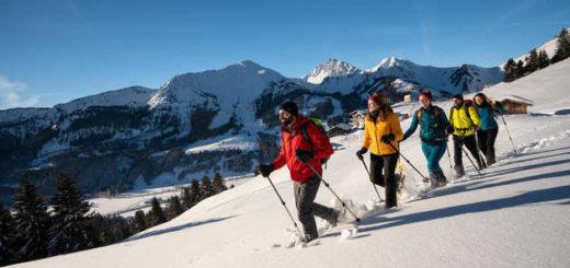 Winterspaß beim Schneeschuhwandern - Dominik Ketz