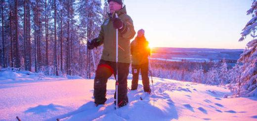 Langlaufen im Sonnenuntergang - Granö Beckasin