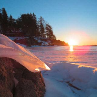 Sonnenaufgang über dem Saimaa-See - Viola Stratmann