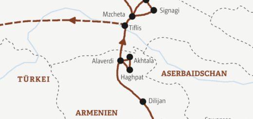 Rundreise durch Armenien und Georgien in elf Tagen