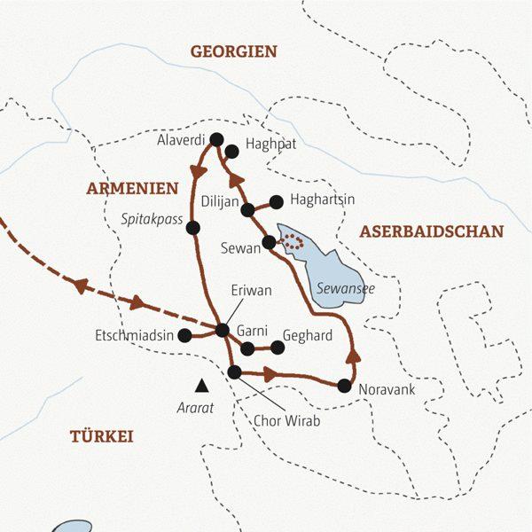 Armenien Rundreisen 2016 / 2017
