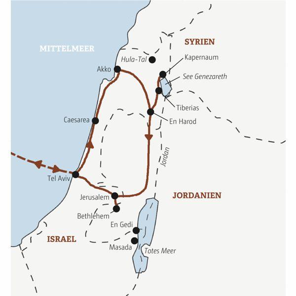 Israel Rundreisen 2016 / 2017