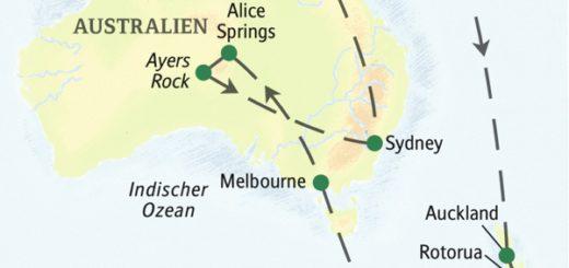 Die Höhepunkte von Neuseeland und Australien