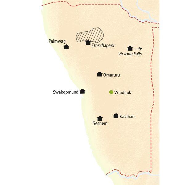 Namibia – Viktoriafälle deutschsprachig gefuehrte Studienreisen 2019