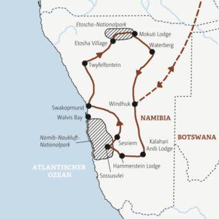 Rundreise zu den Naturhöhepunkten Namibias
