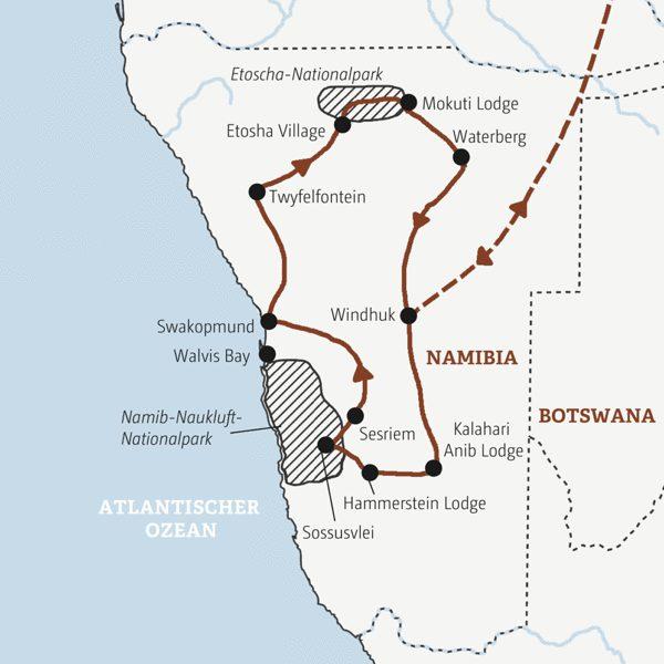 Namibia Rundreisen 2016 / 2017