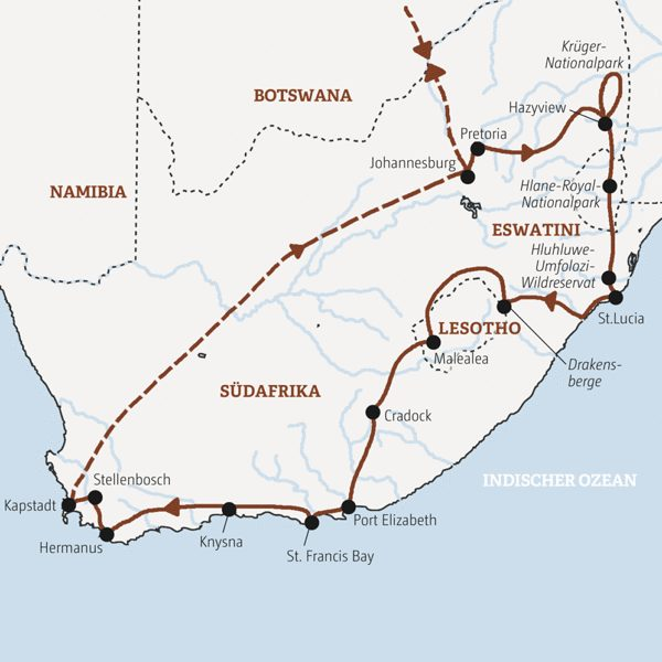 Südafrika Rundreisen 2016 / 2017