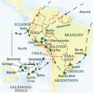 Südamerikas Höhepunkte von Lima bis Rio – ideal für ein erstes Kennenlernen