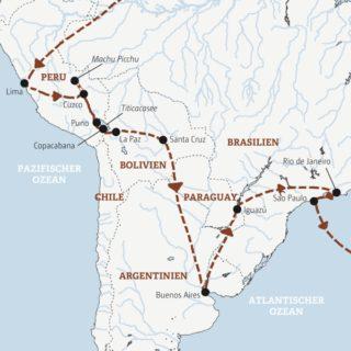 Rundreise zu den Höhepunkten Südamerikas