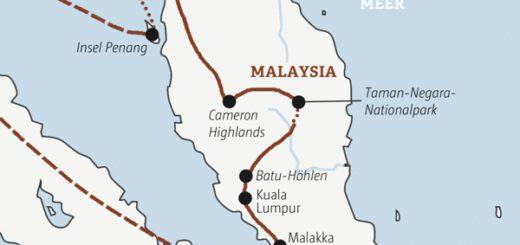 Abwechslung total auf einer zweiwöchigen Rundreise von Singapur zu den Höhepunkten Malaysias