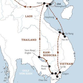 Rundreise zu den Höhepunkten von Vietnam und Kambodscha