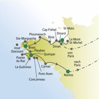 In zwölf Tagen durch die Bretagne mit weltoffenen Singles und Alleinreisenden und Studiosus-Reiseleiter