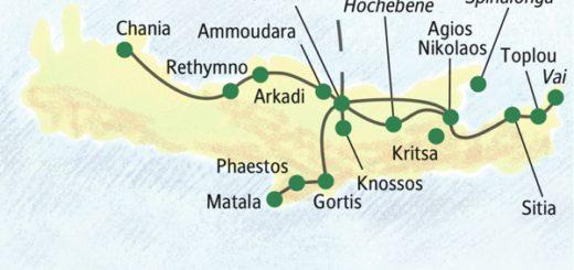 Die bekanntesten Sehenswürdigkeiten Kretas von zwei Standorten aus