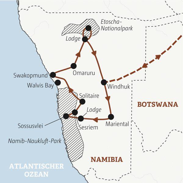 Namibia Rundreisen junge Leute 2019