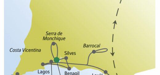Strände und Felsküste der Algarve auf Wanderungen mit weltoffenen Singles und Alleinreisenden erleben