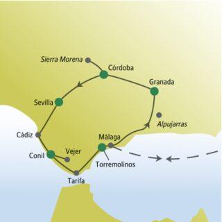Perfekte Mischung aus Strand und Kultur: Südspanien mit weltoffenen Singles und Alleinreisenden