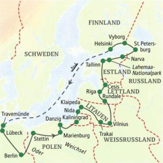 19-tägige Studienreise im Komfortbus durch Polen