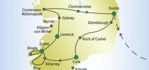 Rundreise durch Irland mit anderen weltoffenen Singles und Alleinreisenden