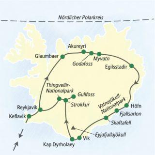 Rund um Island auf der Ringstraße mit einem dichten Programm 2021