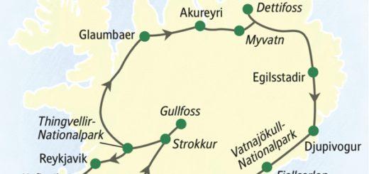 Rundreise auf der Ringstraße: in acht Tagen rund um Island