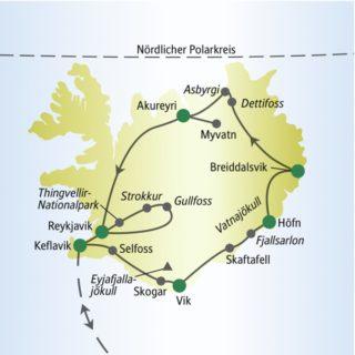 Gemeinsam mit anderen weltoffenen Singles und Alleinreisenden auf der Ringstraße rund um Island