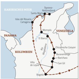 Gut zweiwöchige Abenteuerreise zu den Höhepunkten Kolumbiens: von Bogotás Szeneclubs durch die Ausläufer der Anden in Kolonialstädtchen bis zur Karibik mit Traumstrand & Co. Young Traveller