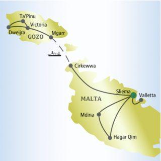 In fünf Tagen den Inselstaat Malta gemeinsam mit anderen weltoffenen Singles und Alleinreisenden erleben