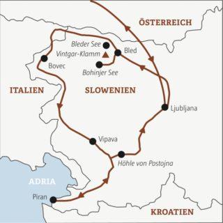 Zehntägige Aktivreise mit den schönsten Wandertrails Sloweniens und Ausklang an der Adriaküste Young Traveller