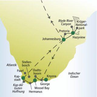 Ein erstes Kennenlernen von Südafrika zusammen mit anderen weltoffenen Singles und Alleinreisenden
