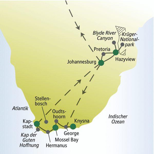 Südafrika Rundreisen für Alleinreisende 2020 / 2021