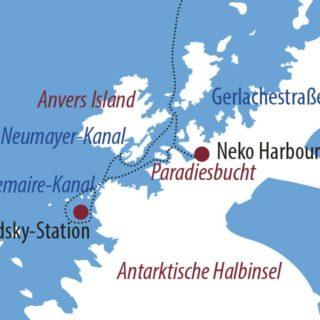 Karte Reise Antarktis Im Reich der Pinguine 2021