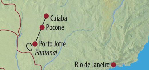 Karte Reise Brasilien • Pantanal Im Reich des Jaguars 2021