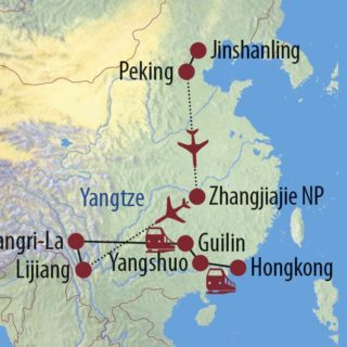 Karte Reise China Grüne Perlen des Südens 2021