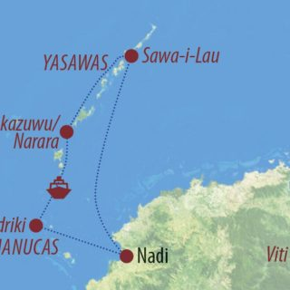 Karte Reise Fiji Der süße Ruf der Südsee 2021