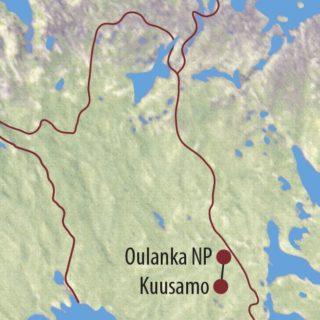 Karte Reise Finnland Nordlichter, Rentiere und Baumtrolle mit Hermann J. Netz 2021