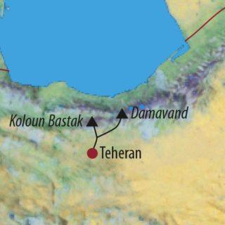 Karte Reise Iran Damavand (5671m) 2021