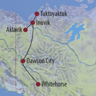 Karte Reise Kanada   Yukon • Northwest Territories Arctic Roadtrip – Winterabenteuer im Norden 2021
