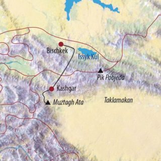 Karte Reise Kirgistan • China | Xinjiang Muztagh Ata (7546m) 2021