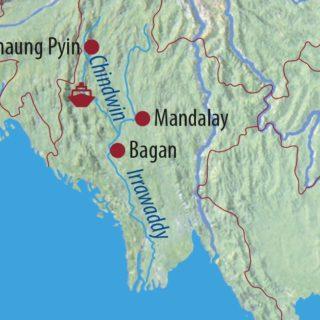 "Karte Reise Myanmar Auf der ""Road to Mandalay"" 2021"