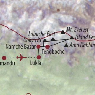 Karte Reise Nepal Lobuche East (6119m) und Island Peak (6189m) 2021