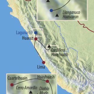 Karte Reise Peru | Cordillera Huayhuash Mythos der Anden 2021