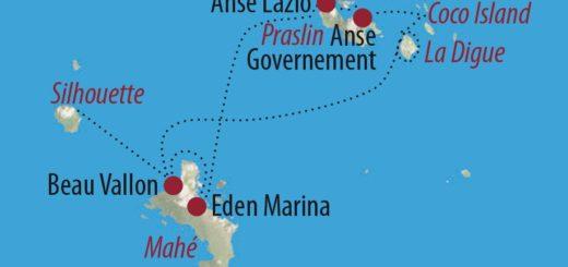 Karte Reise Seychellen Im Garten Eden des Indik 2021