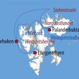 Karte Reise Spitzbergen Im Eisbärland 2021