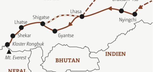 In 17 Tagen zu den Höhepunkten Tibets: nach Lhasa
