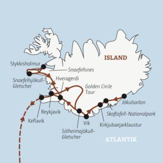 Islands Highlights: in 10 Tagen von Reykjavik über den Skaftafell-Nationalpark zur Gletscherlagune Jökulsarlon Young Traveller