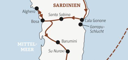 Sardiniens Highlights mit schroffen Bergen