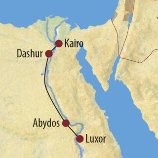 Karte Reise Ägypten Durch das Land Kemet ins Tal der Könige 2021/22